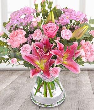 Royal blush pink flower bouquet delivered same day flower delivery royal blush mightylinksfo