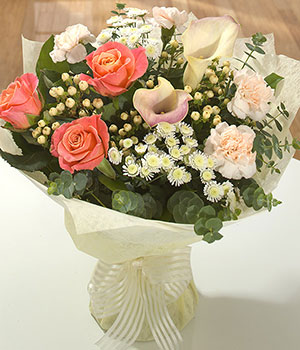 exotic calla lily peach carnations roses flowers d