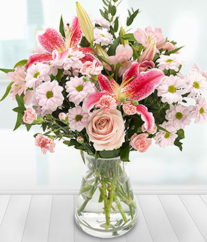 pink roses lilies chrysanthemums carnations flower
