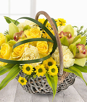 Easter gifts ideal easter gifts easter flowers and gifts online sunshine basket negle Choice Image