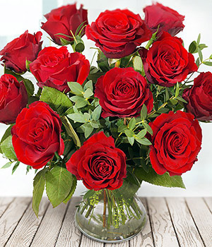 12 Premium Red Roses Valentine S Day Flowers