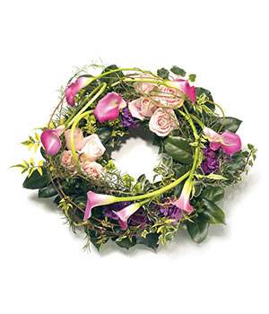 Pink Calla Lily Wreath
