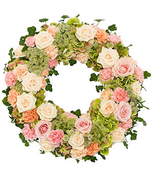 Peach & Pink Wreath