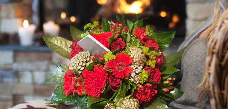 Message for Christmas Flowers