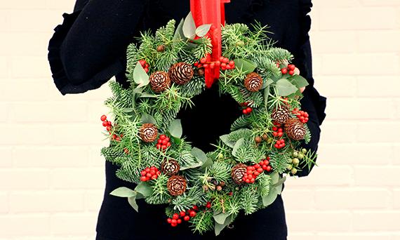 Finished door wreath