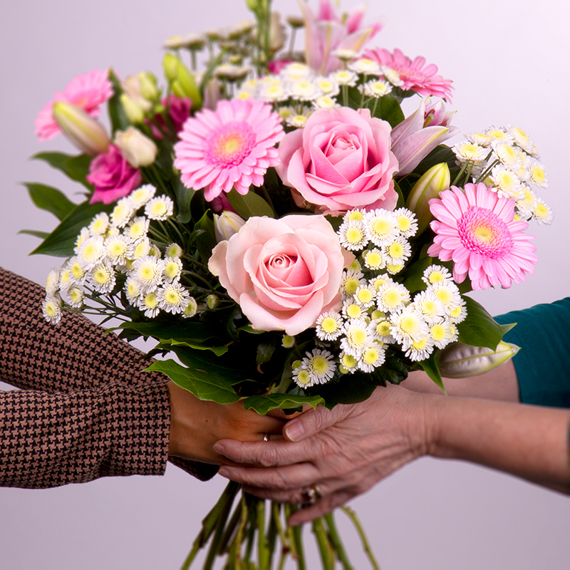 Hand tied mother's day flowers