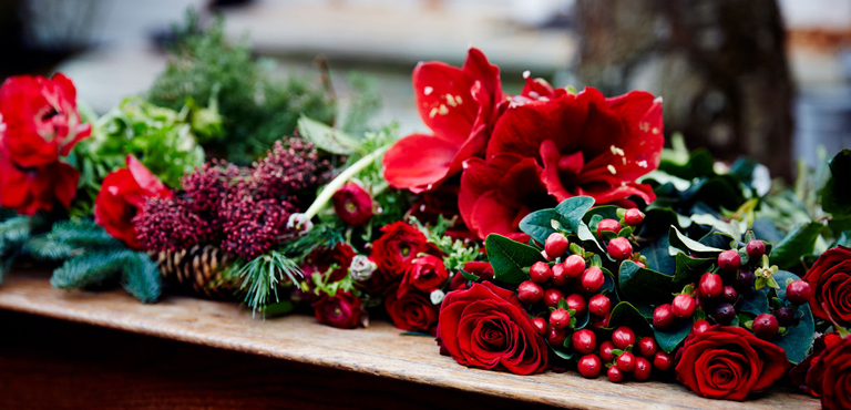 Christmas flowers mix